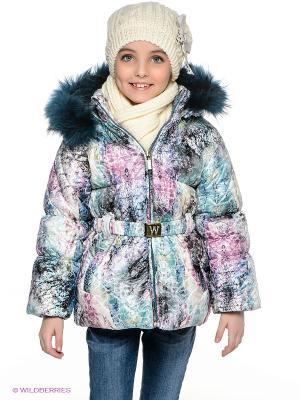 Куртка Wojcik. Цвет: фиолетовый, белый, зеленый