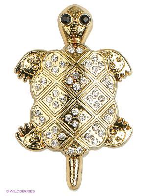 Наклейка металлическая 3D Черепаха золотая N23  WIIIX. Цвет: золотистый