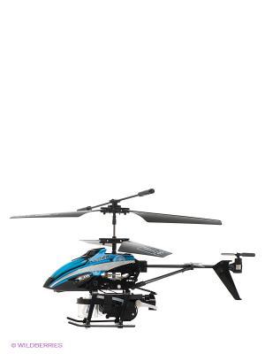Радиоуправляемый вертолет Fly-0238 От винта. Цвет: черный, синий