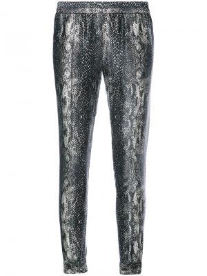 Облегающие брюки с рисунком под змеиную кожу Fleur Du Mal. Цвет: чёрный