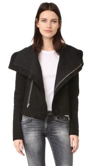 Замшевая куртка Max VEDA. Цвет: голубой