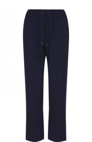 Укороченные брюки прямого кроя с лампасами Kenzo. Цвет: синий