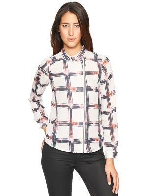 Блузка TOM TAILOR. Цвет: светло-бежевый, серый