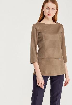 Блуза Devur. Цвет: коричневый