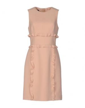 Платье до колена EMANUEL UNGARO. Цвет: телесный