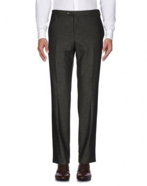 Повседневные брюки LUIGI BIANCHI Mantova. Цвет: темно-зеленый