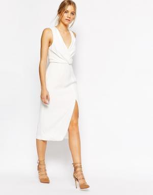 C/meo Collective Платье без рукавов Bedroom Wall. Цвет: белый