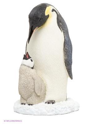 Статуэтка Пингвин с детенышем Veronese. Цвет: молочный, черный