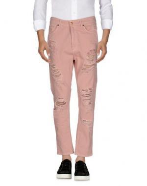 Джинсовые брюки MNML COUTURE. Цвет: пастельно-розовый
