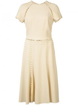 Pleated dress Jonathan Simkhai. Цвет: белый