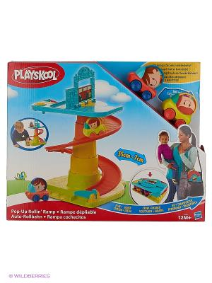 Веселый Гараж возьми с собой Hasbro. Цвет: красный, желтый, голубой