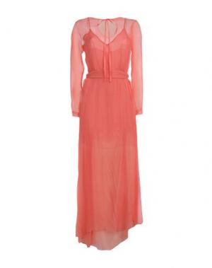 Длинное платье ALEX VIDAL. Цвет: лососево-розовый