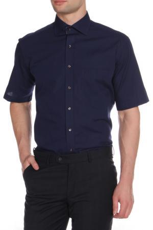 Рубашка ETERNA. Цвет: синий