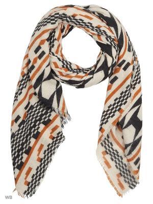 Шарф Vero moda. Цвет: коричневый, белый, черный