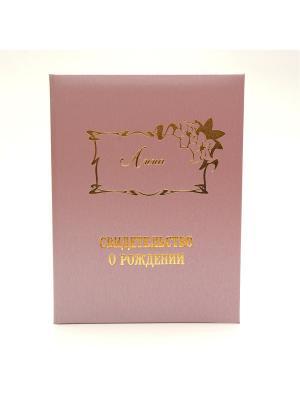 Именная обложка для свидетельства о рождении Анна Dream Service. Цвет: розовый