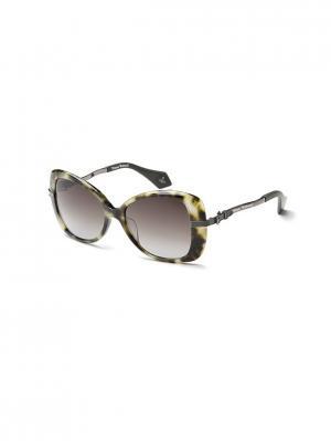 Солнцезащитные очки VW 912S 03 Vivienne Westwood. Цвет: зеленый,коричневый