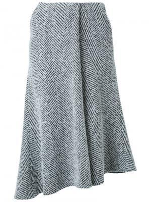 Расклешенная асимметричная юбка Fad Three. Цвет: чёрный