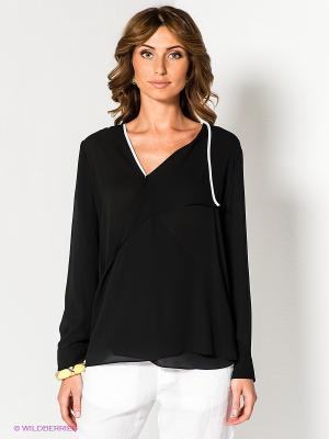 Блузка Acasta. Цвет: черный, белый