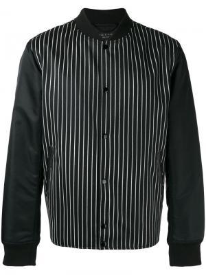 Куртка бомбер в полоску Rag & Bone. Цвет: чёрный
