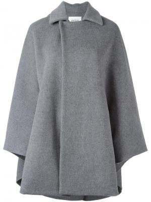 Расклешенное пальто с потайной застежкой Enföld. Цвет: серый
