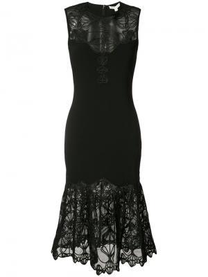 Кружевное платье с подолом рыбий хвост Jonathan Simkhai. Цвет: чёрный
