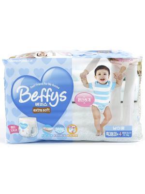 Подгузники-трусики Beffys extra soft для мальчиков размер XL (13-18 кг.) 32 шт. Beffy's. Цвет: синий