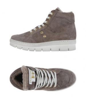 Высокие кеды и кроссовки D'ACQUASPARTA. Цвет: голубиный серый