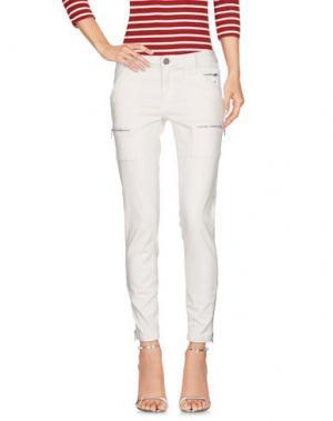 Джинсовые брюки JOIE. Цвет: слоновая кость