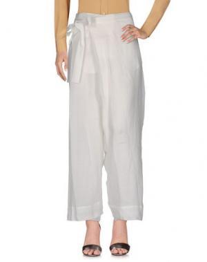 Повседневные брюки GENTRYPORTOFINO. Цвет: белый