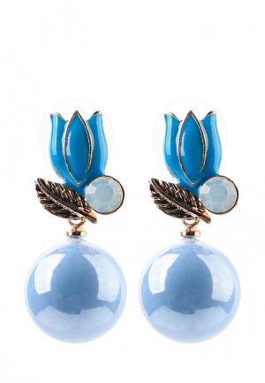 Серьги Taya. Цвет: голубой
