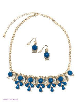 Комплект Taya. Цвет: синий, золотистый