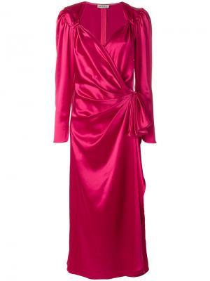 Вечернее платье с вырезом стиля сердце Attico. Цвет: розовый и фиолетовый