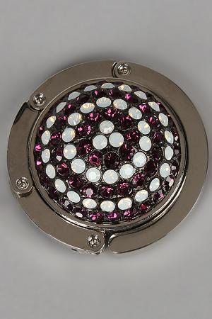 Держатель для сумки I Pavoni. Цвет: металл белый, бело-розовый