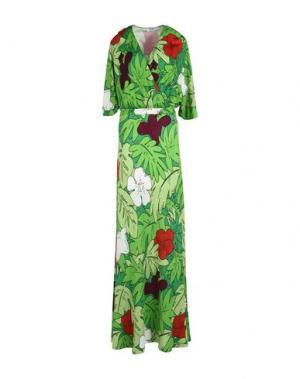 Длинное платье MOSCHINO CHEAP AND CHIC. Цвет: зеленый