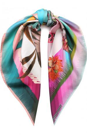 Шелковый платок с принтом Christian Lacroix. Цвет: розовый