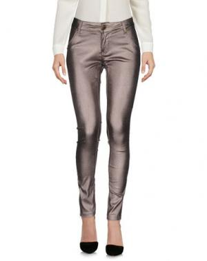 Повседневные брюки FOREVER UNIQUE. Цвет: голубиный серый