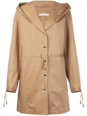 Пальто на пуговицах Barbara Casasola. Цвет: телесный