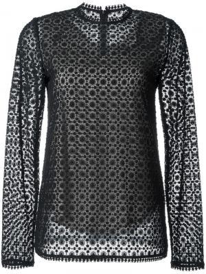 Блузка с вышивкой Goen.J. Цвет: чёрный