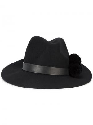 Шляпа Malise с помпоном Yosuzi. Цвет: чёрный