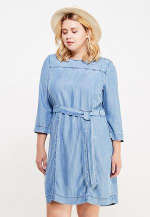 Платье Violeta by Mango. Цвет: голубой