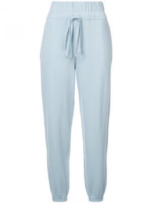 Спортивные брюки с эластичным поясом Apiece Apart. Цвет: синий