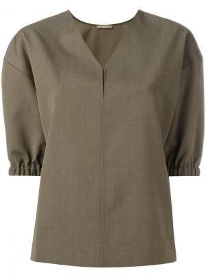 Блузка с V-образным вырезом Nehera. Цвет: зелёный