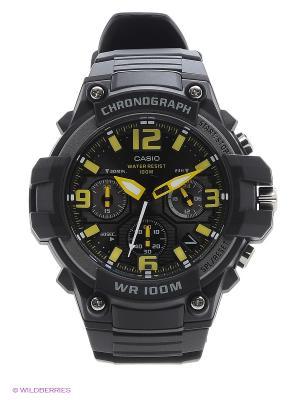 Часы Casio MCW-100H-9A. Цвет: черный, желтый