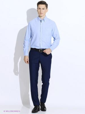 Рубашка Westrenger. Цвет: светло-голубой