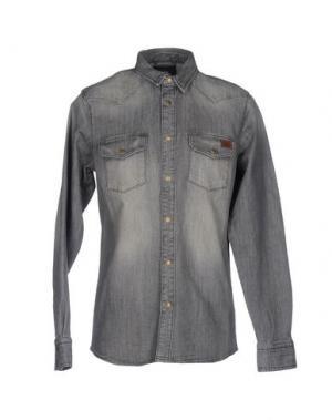 Джинсовая рубашка DICKIES. Цвет: серый