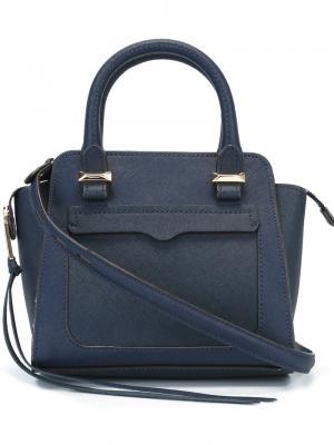 Маленькая сумка-тоут Rebecca Minkoff. Цвет: синий