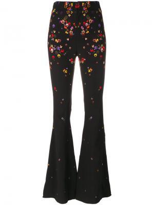 Расклешенные брюки с цветочным принтом Givenchy. Цвет: чёрный