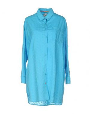 Pубашка GANESH. Цвет: лазурный