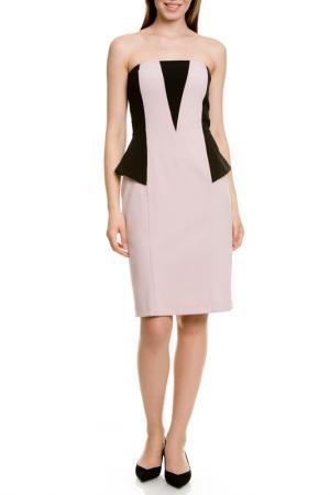 Платье LeVall. Цвет: розовый, черный