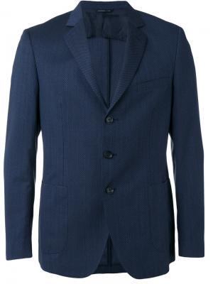 Пиджак с карманом спереди Tonello. Цвет: синий